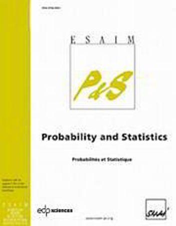 ESAIM : Probability and Statistics